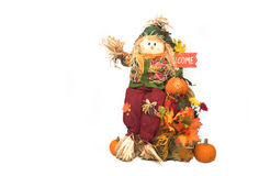 Scarecrow Over White Stock Photos