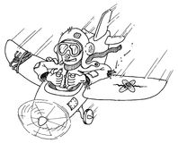 Scarecrow pilot Stock Image