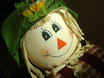 Scarecrow Portrait Stock Photography