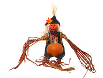 Scarecrow & Pumpkin Stock Image