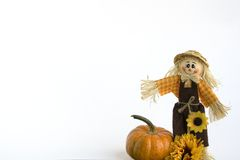 SCARECROW with PUMPKIN Royalty Free Stock Image