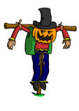 Scarecrow with Pumpkin Head Stock Images