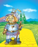 Scarecrow. On the road of yellow bricks to the emerald city of oz Royalty Free Stock Photos