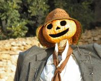 Scarecrow's Face. In a forest of Majorca Royalty Free Stock Photos