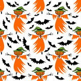 Scarecrow seamless pattern Stock Photo