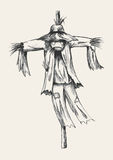 Scarecrow Sketch Stock Images