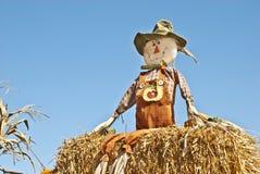 Scarecrow with Sky Background Stock Photos