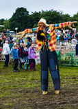 Scarecrow on stilts Royalty Free Stock Photo