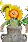 Scarecrow sunflower Stock Photos