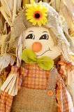 Scarecrow with Sunflower Stock Image