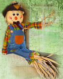 Scarecrow Textured Illustration Stock Photos