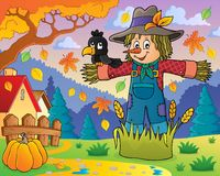 Scarecrow theme image 2. Eps10 vector illustration Royalty Free Stock Images