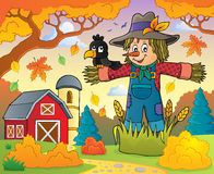 Scarecrow theme image 3. Eps10 vector illustration Royalty Free Stock Images