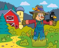 Scarecrow theme image 5. Eps10 vector illustration Stock Images