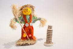 Scarecrow and tower Royalty Free Stock Images