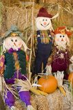 Scarecrow trio Stock Photo