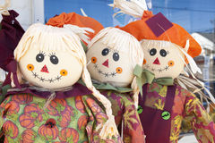 Scarecrow Trio Stock Photography