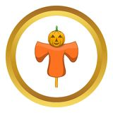 Scarecrow vector icon Stock Images