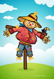 Scarecrow. A vector illustration of a scarecrow standing in a field Royalty Free Stock Photos