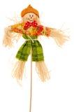 Scarecrow on white stock images