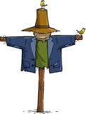 Scarecrow. On a white background vector Royalty Free Stock Photos