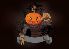 Free Scarecrow With A Pumpkin Head Royalty Free Stock Photo - 44897665