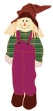 Scarecrow woman. Vector of a country style scarecrow woman Stock Images