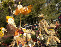 Scarecrows. Halloween display of  scarecrows Stock Images