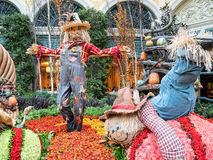 Scarecrows, Autumn display at the Bellagio Stock Images