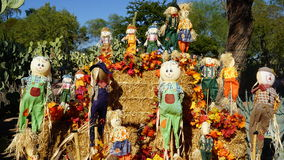 Scarecrows in fall display, Las Vegas, Nevada Royalty Free Stock Photos