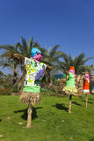 Scarecrows at a Fall Festival. Stock Photography