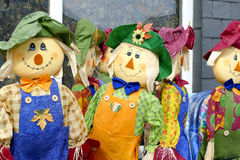 Scarecrows. A group of freshly made Scarecrows Stock Images