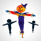 Scarecrows halloween symbol - vector illustration Royalty Free Stock Photos