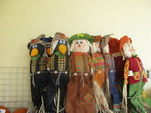 Scarecrows. Scarecrows  put out in my yard for halloween Royalty Free Stock Photos