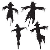 Scarecrows. Set of scarecrows, vector illustration Royalty Free Stock Photo
