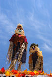 Scarecrows in the Sky Royalty Free Stock Photography