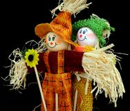 scarecrows två Royaltyfri Fotografi