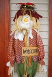 Scarecrows Welcome Stock Photo