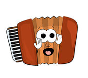 scared accordion illustration Royalty Free Stock Photography