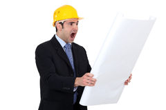 Scared architect Stock Image