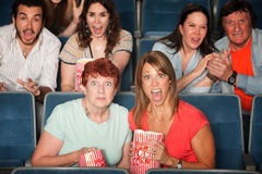 Scared Audience Stock Photo