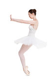 Scared ballerina portrait isolated on white background Royalty Free Stock Photos