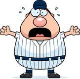 Scared Baseball Player Royalty Free Stock Photo
