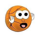 Scared Basketball ball cartoon Stock Photography