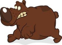 The scared bear. Cartoon Stock Image