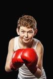 Scared boxer Stock Photo