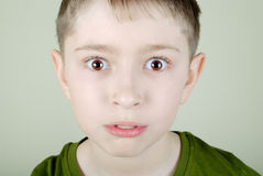 Scared boy Royalty Free Stock Photo