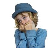 Scared boy child Stock Photo