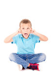 Scared boy Royalty Free Stock Photos