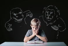 Scared boy Royalty Free Stock Image